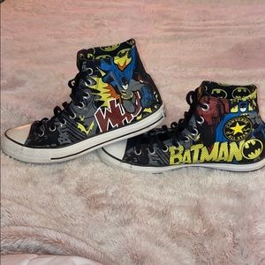 Lightly worn Batman comic converse